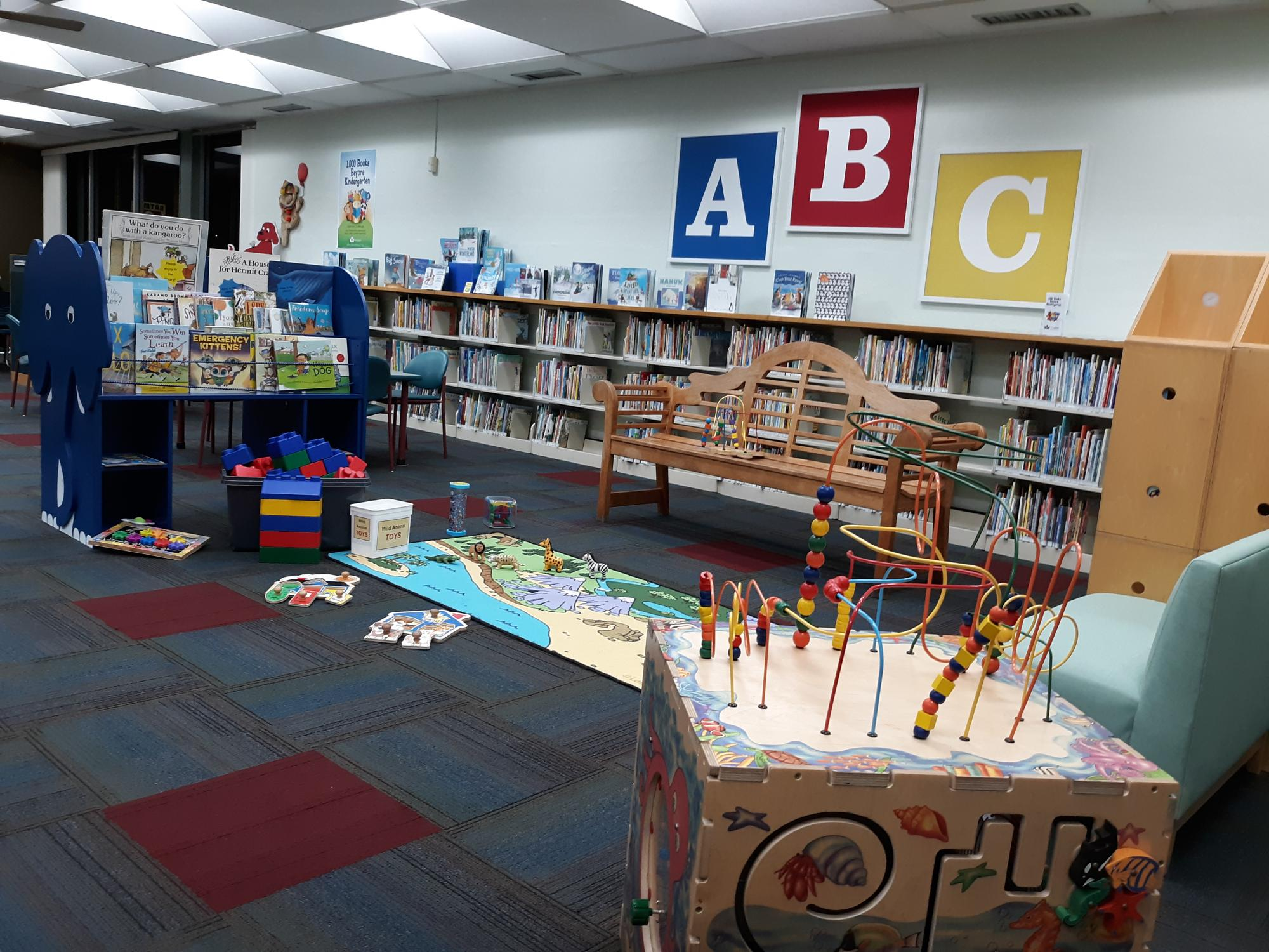 The children's area of Warr Acres Library, MLS, Oklahoma City