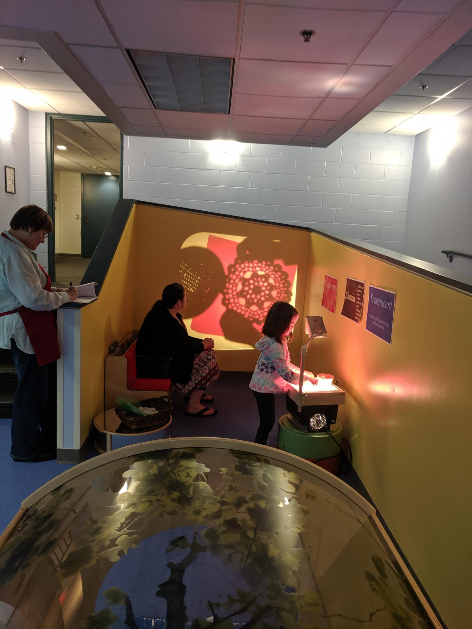 Playing with light at Little Makers in our new Early Childhood Learning Room
