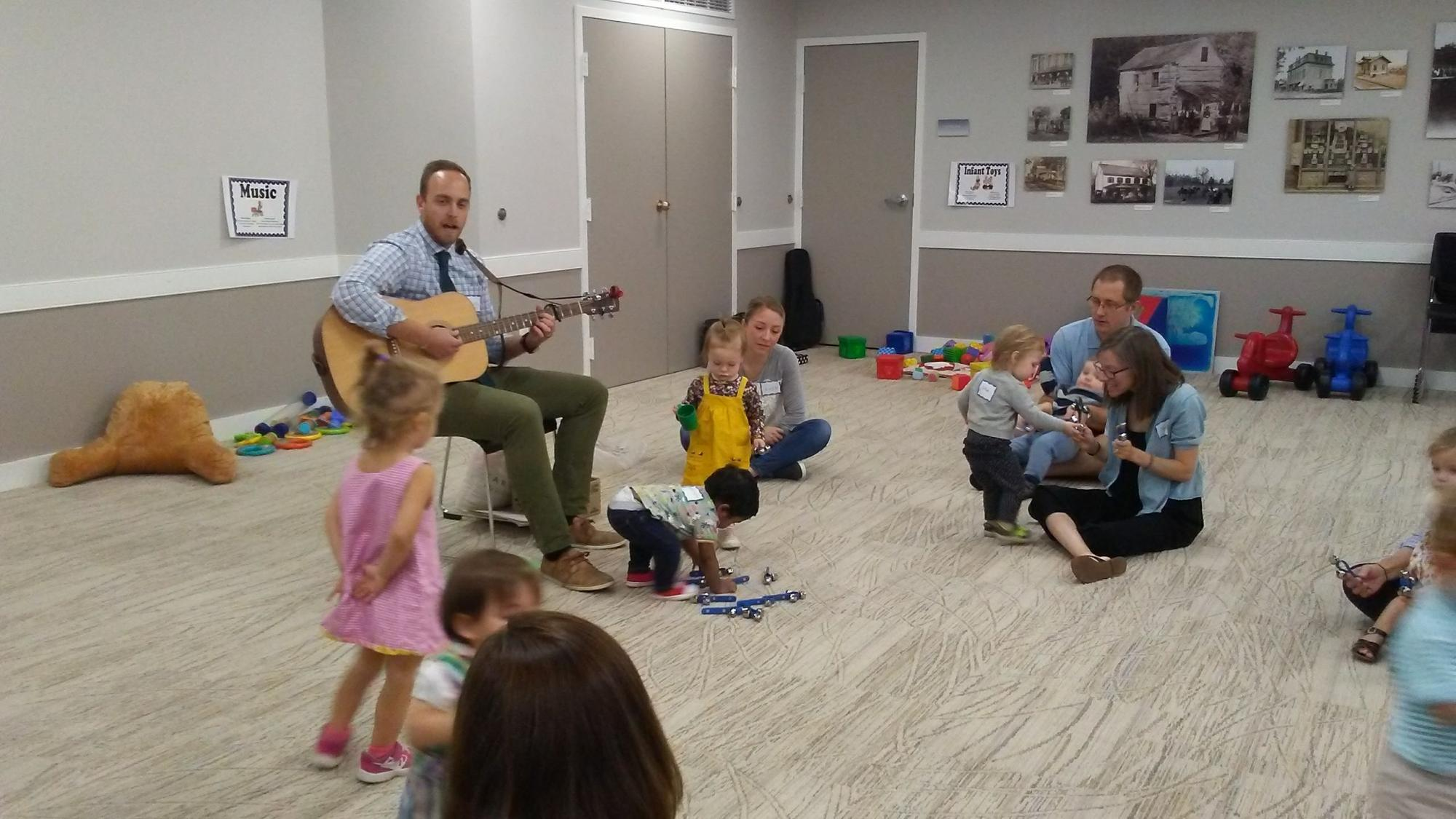 Parent-Child Workshop at Radnor Memorial Library featuring Music Teacher as Resource Professional