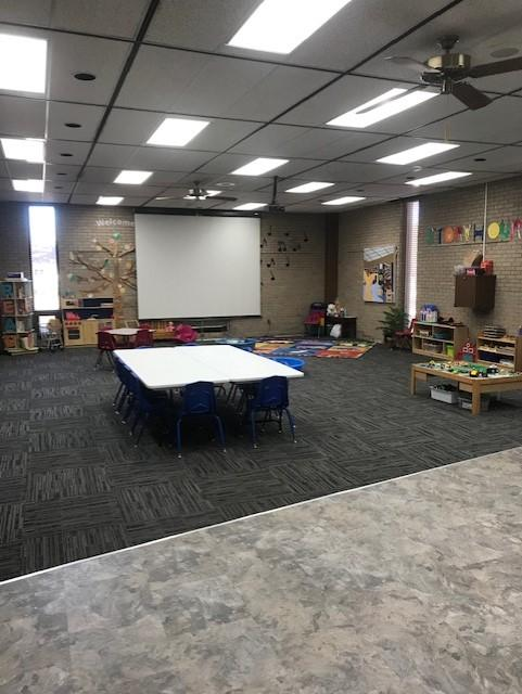 Parent Child Workshop space, I do not have a picture of it set up for the workshop.