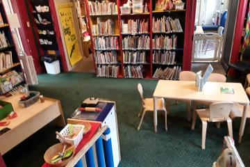 This is the main space for children.  Picture books and our parent collection are here.