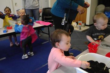 The Baby & Toddler Play series includes lots of sensory experiences.
