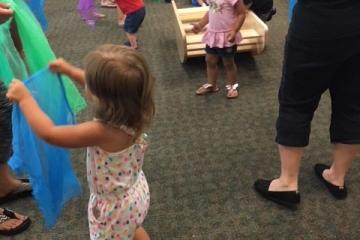 Circle time with Kindermusik at the Harker Heights Public Library Stepping Stones Program.