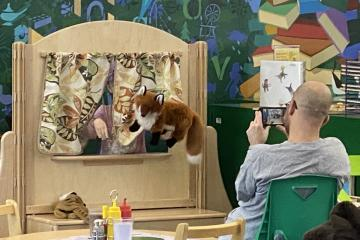 Puppet show for Dad