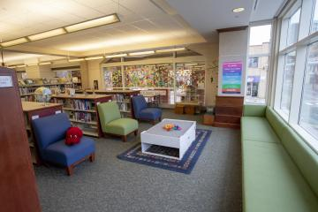 Schlow Library Block Play Table and Window Seat