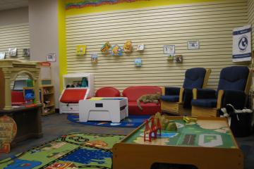 Family Place Library space at the Mengle Memorial Library.