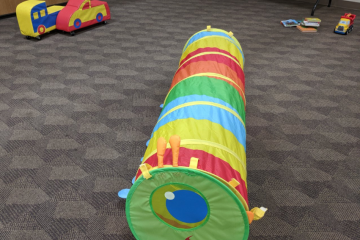 Just a few of the fun toys children can play with during a Parent/Child Workshop.